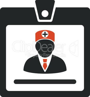 Bicolor Orange-Gray--doctor badge.eps