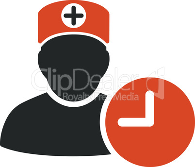 Bicolor Orange-Gray--doctor schedule.eps
