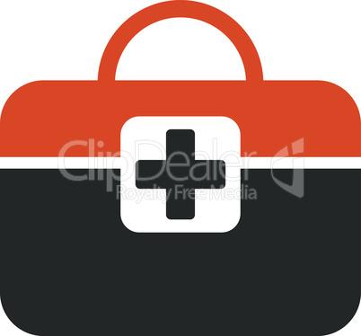 Bicolor Orange-Gray--medical kit.eps