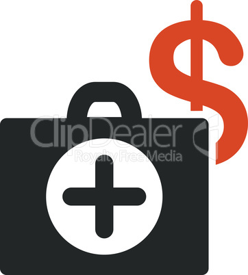 Bicolor Orange-Gray--payment healthcare.eps