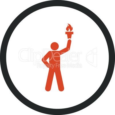 Bicolor Orange-Gray--freedom torch.eps
