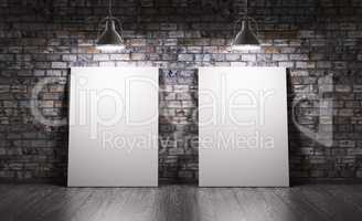 Room with two posters