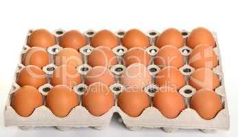 Eier auf Palette