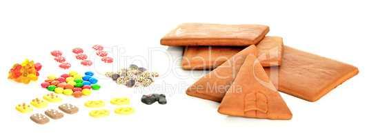 Zutaten für ein Lebkuchenhaus
