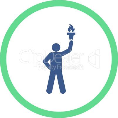 BiColor Cobalt-Cyan--freedom torch.eps