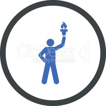 BiColor Cobalt-Gray--freedom torch.eps