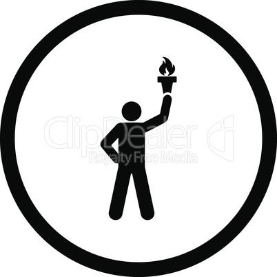 Black--freedom torch.eps