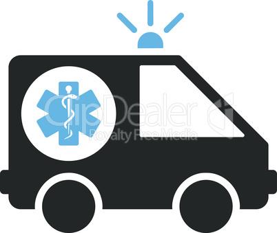 Bicolor Blue-Gray--ambulance car.eps