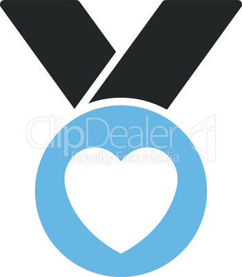 Bicolor Blue-Gray--charity medal.eps