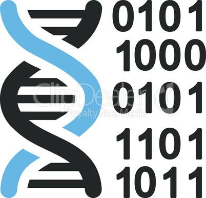 Bicolor Blue-Gray--genome code.eps
