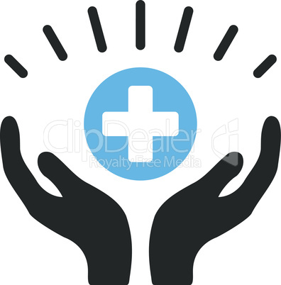 Bicolor Blue-Gray--medical prosperity.eps