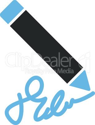 Bicolor Blue-Gray--writing pencil.eps