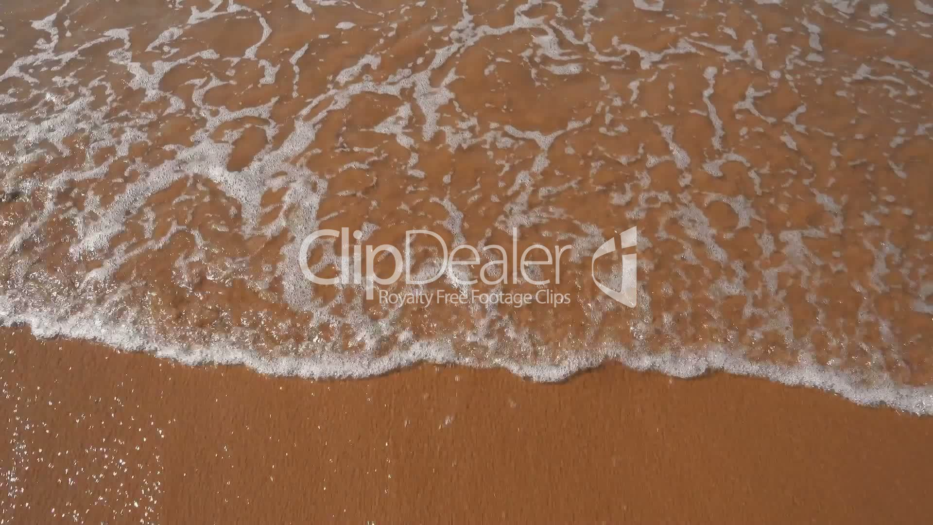 Ocean Waves Incoming on Sand Beach, closeup: Royalty-free video and