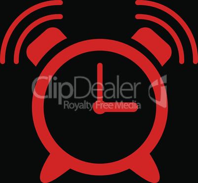 bg-Black Red--alarm clock ring.eps