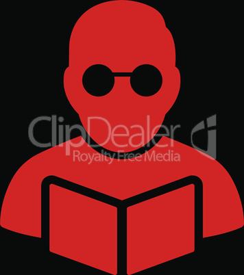 bg-Black Red--Student reading book.eps
