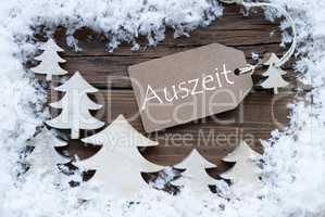 Label Christmas Trees Snow Auszeit Mean Downtime