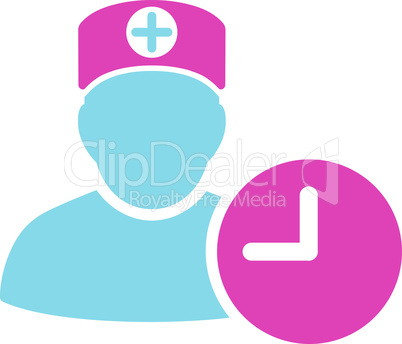 BiColor Pink-Blue--doctor schedule.eps