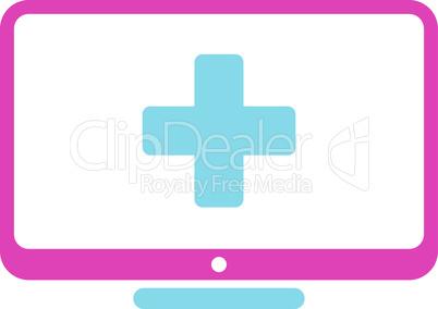 BiColor Pink-Blue--medical monitor.eps