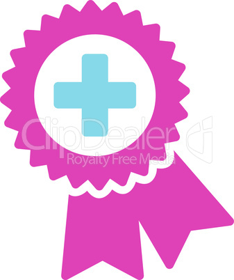 BiColor Pink-Blue--medical quality seal.eps