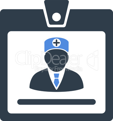 BiColor Smooth Blue--doctor badge.eps