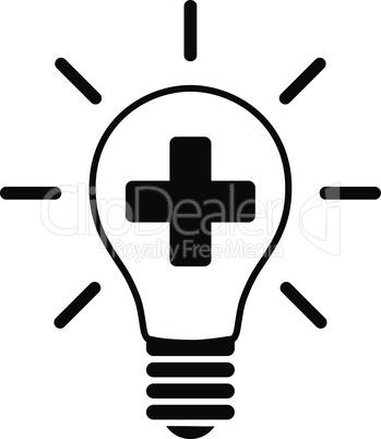 Black--creative medicine bulb.eps