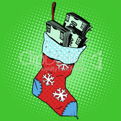 Christmas sock with money