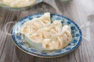 Asian Chinese cuisine fresh dumplings