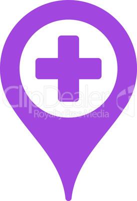 Violet--hospital map pointer.eps