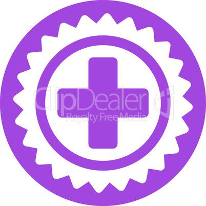 Violet--medical stamp.eps