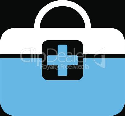 bg-Black Bicolor Blue-White--medical kit.eps