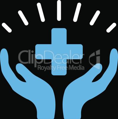 bg-Black Bicolor Blue-White--medical prosperity.eps