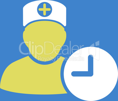 bg-Blue Bicolor Yellow-White--doctor schedule.eps