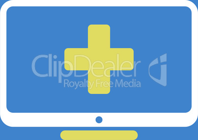bg-Blue Bicolor Yellow-White--medical monitor.eps