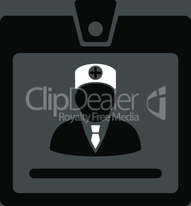 bg-Gray Bicolor Black-White--doctor badge.eps