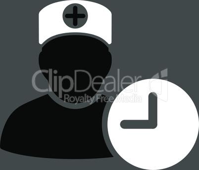 bg-Gray Bicolor Black-White--doctor schedule.eps