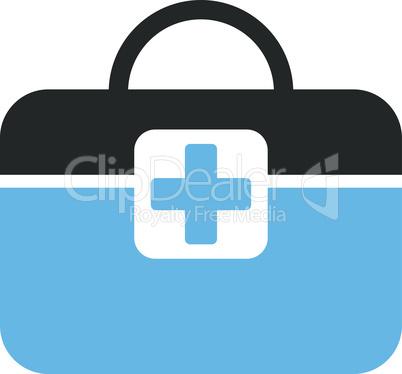 Bicolor Blue-Gray--medical kit.eps