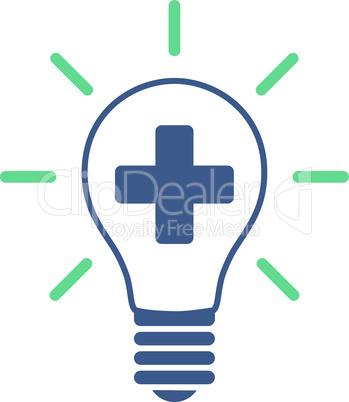 BiColor Cobalt-Cyan--creative medicine bulb.eps