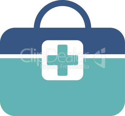 BiColor Cyan-Blue--medical kit.eps