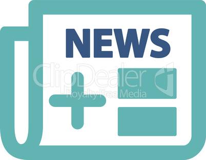 BiColor Cyan-Blue--Medical newspaper.eps