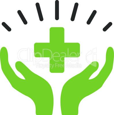 Bicolor Eco_Green-Gray--medical prosperity.eps