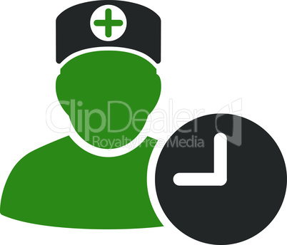 Bicolor Green-Gray--doctor schedule.eps