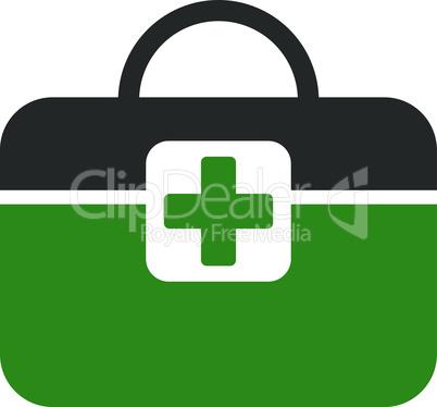 Bicolor Green-Gray--medical kit.eps