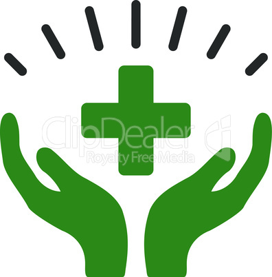 Bicolor Green-Gray--medical prosperity.eps