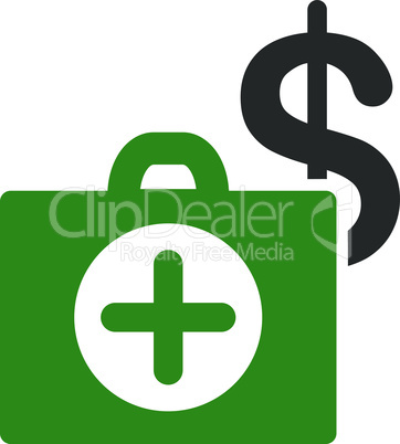 Bicolor Green-Gray--payment healthcare.eps