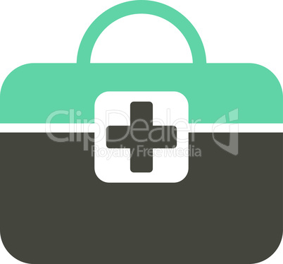 Bicolor Grey-Cyan--medical kit.eps