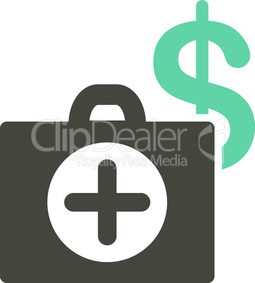 Bicolor Grey-Cyan--payment healthcare.eps