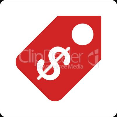 bg-Black Bicolor Red-White--price tag.eps