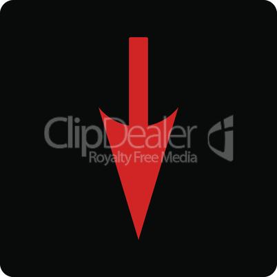 Bicolor Blood-Black--sharp down arrow.eps