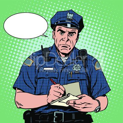 angry policeman