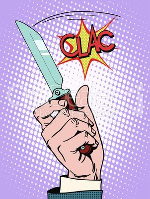 Crime knife arm bandit